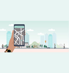 City eco transportation banner vector