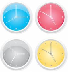 clocks design elements vector image