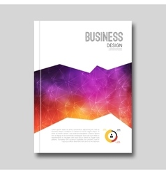 Colorful business background smoky design cover vector