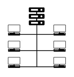 computer network diagram icon vector