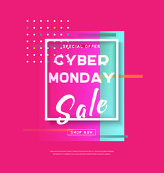 cyber monday3 vector image