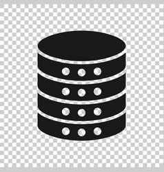 data center icon in transparent style server on vector image
