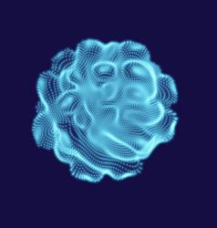 Deformed 3d sphere design vector