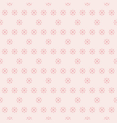 delicate pink floral seamless pattern vector image