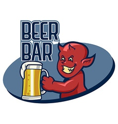 Devil Beer Bar vector