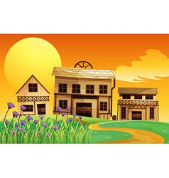Different house styles vector image