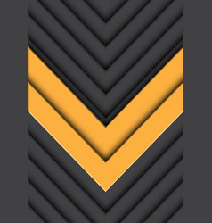 double yellow arrow gray pattern direction vector image