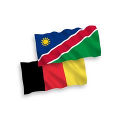 Flags belgium and republic namibia vector