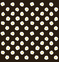fried scrambled eggs seamless pattern vector image