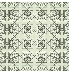 Geometric Seamless pattern with stylized flower vector