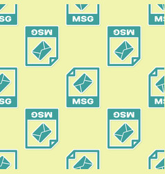 Green msg file document icon download msg button vector