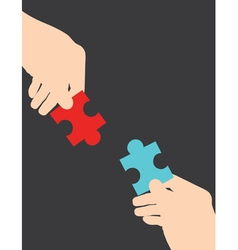 hand puzzle vector image