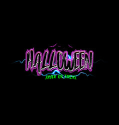 Happy halloween trick or treat text banner vector