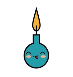 kawaii cute candle party icon vector image