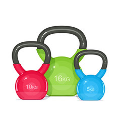 Kettlebells equipment vector