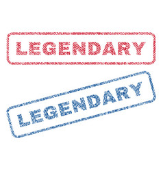 Legendary textile stamps vector