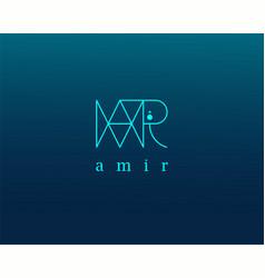 Logo name amir usable design for private vector