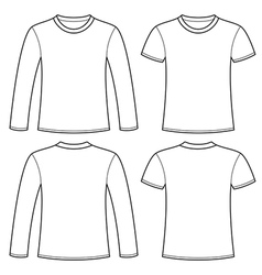 Long Sleeve Shirt Print Vector Images - T shirt print out template