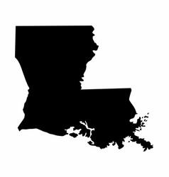 Louisiana silhouette map vector