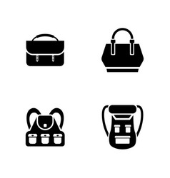Luggage simple related icons vector
