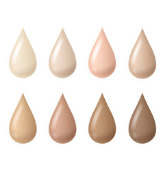 Makeup drops woman liquid bb cream foundation vector