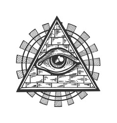 Masonic symbol engraving vector