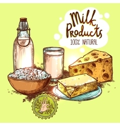 Milk Product Still Life Concept vector
