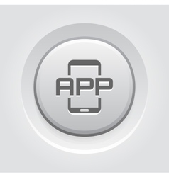 Mobile Application Icon vector image