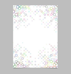 Multicolored circle pattern brochure template vector