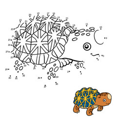 numbers game indian star tortoise vector image