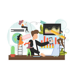 office people team professionals working together vector image