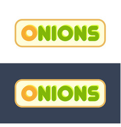 onions - set of style emblems vector image