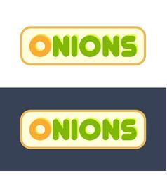 onions - set style emblems vector image