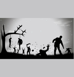 Picture zombie party4 vector