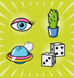 pop art elements vector image