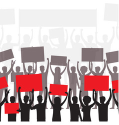Public protest or political demonstration concept vector