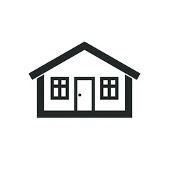 Real estate simple business icon isolated on white vector