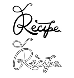Recipe word vector image