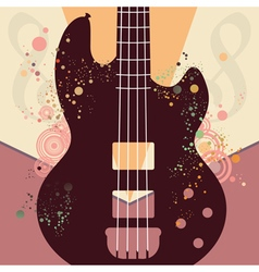 Retro Guitar Poster3 vector image