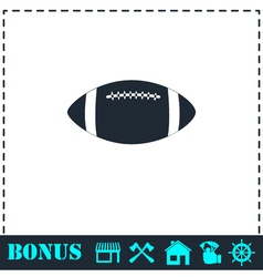 Rugby ball icon flat vector image