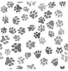 seamless cat animal paw pattern vector image
