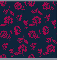 Simple floral decorative seamless pattern inspired vector