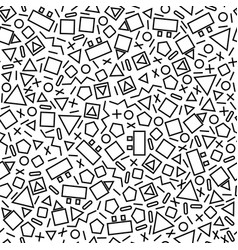 small geometric shapes vector image