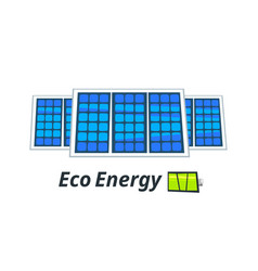 solar panels vector image