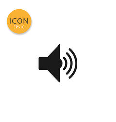 speaker icon isolated flat style vector image