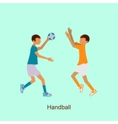 Sport people activities icon handball vector