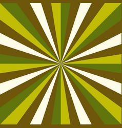 sunburst green new year pattern radial stripes vector image