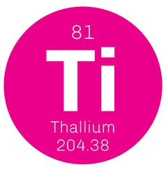 Thallium chemical element vector image