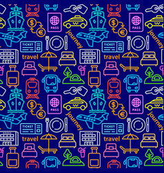 travel colorful pattern vector image