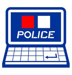 web police vector image